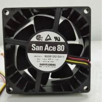 散热风扇San Ace80轴流风机DC12V 8038长寿命耐高温9G0812G1D011